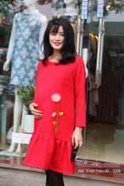 Đầm bầu TD08 Thêu đỏ