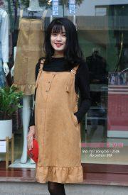 Đầm yếm bầu Y01 Vàng bò