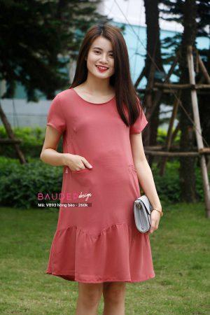 Váy bầu suông VB93 hồng bèo