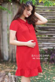 Váy bầu suông đẹp TK58 đỏ