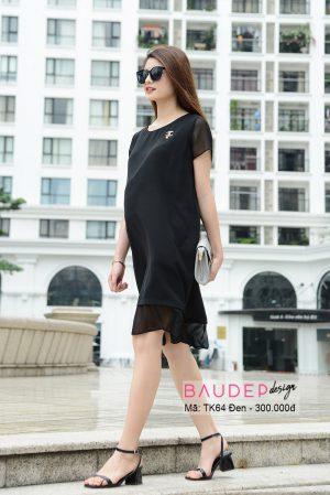 Đầm bầu TK64 Đen, Đầm bầu công sở , đầm bầu màu đen, đầm bầu suông, váy bầu suông, váy bầu đẹp, đầm bầu đẹp, bầu đẹp design, đầm bầu thiết kế