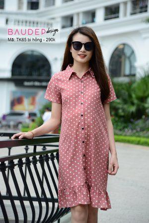 dam_bau_suong_cham_bi, đầm bầu suông chấm bi, váy bầu suông, váy bầu đẹp, đầm bầu đẹp, bầu đẹp design, váy bầu thiết kế,