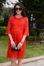 Đầm bầu ren TK70 Đỏ