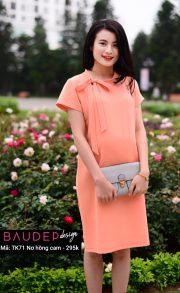 Đầm bầu suông TK71 Nơ hồng