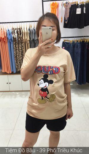 Áo cotton bầu Mickey